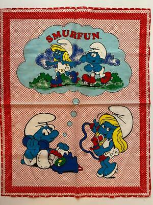 £9.52 • Buy Smurfette The Smurfs Red Fabric 23  X 19  Vintage1982 Smurf Pillow Cover Case