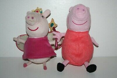 £5 • Buy 2 Peppa Pig Soft Toys - Peppa Pig In Fairy Outfit And Red Outfit - 2003
