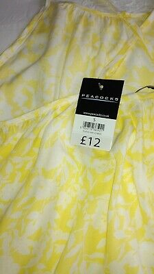 £5.95 • Buy Gorgeous Yellow/White Very Loose Summer Sun Beach Dress By Peacocks Size S