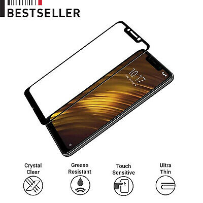AU6.84 • Buy For Xiaomi Pocophone F1 Full Coverage Tempered Glass 3D Screen Protector