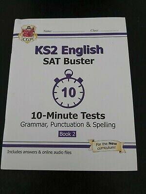 £3 • Buy CGP KS2 English SAT Buster 10 Minut Tests - Grammar, Punctuation And Spelling.