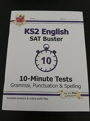 £3 • Buy CGP KS2 English SAT Buster 10 Minute Tests - Grammar Punctuation And Spelling