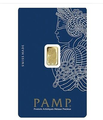 £59.90 • Buy Gold Bar 1 G. 999.9 Pamp Swizrland 24 Ct. With Certificate .