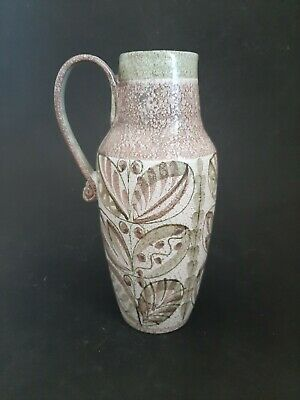 £10 • Buy Denby Pottery Large Stylised Leaves Design Jug By Glyn Colledge - 1960's/70's