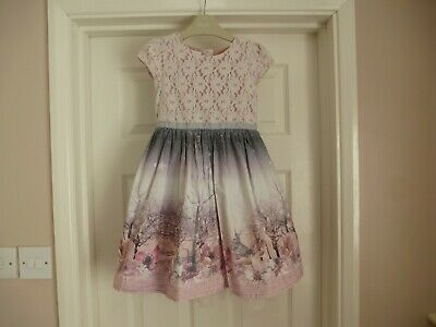 £35 • Buy Next Girls Lace & Bunny Prom Dress Size Age 5-6 Good Condition!