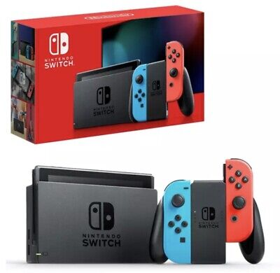AU378 • Buy Nintendo Switch Neon Joy-Con Console BRAND NEW - SAME DAY EXPRESS POST /DELIVERY