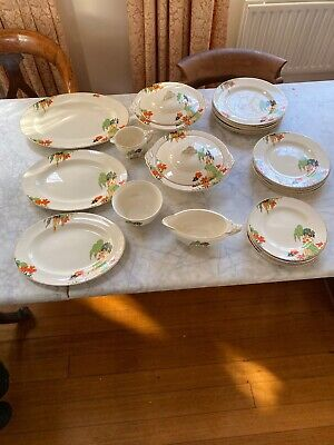 £35 • Buy J & G MEAKIN SOL 391413 1930s Art Deco Dinner Service With Charming Design