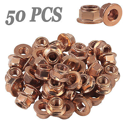 £9.55 • Buy 50x M8 Copper Flashed Exhaust Manifold Nut 8 Mm Nuts High Temperature Nuts