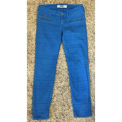 £3 • Buy Hollister Y2k Low Rise Bright Blue Jeans, Used But In Good Condition, Vintage