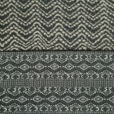 £4.49 • Buy Jersey Knit Fabric Aztec And Chevron Printed 2 Way Stretch 55  Wide Light Weight