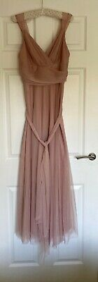 £15.99 • Buy Ever Pretty Double V-neck Dress Bridesmaid Gown Prom Pink Size UK 8 Chiffon