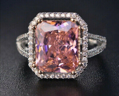 £14.26 • Buy Natural Pink Spinel Gemstone Ring 925 Sterling Silver Women's Wedding Jewelry UK