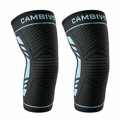 $22.29 • Buy CAMBIVO 2 Pack Knee Compression Sleeve,Knee Brace For Women And Men,Knee Support