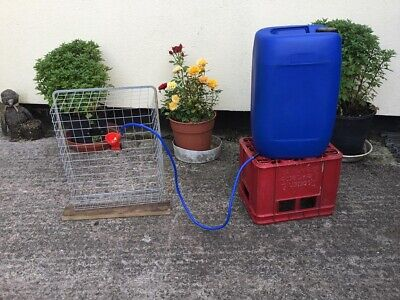 £12.99 • Buy Automatic Drinker Kits Drinking Cup Poultry Cage Birds Tank Drum 25 Hen Chicken