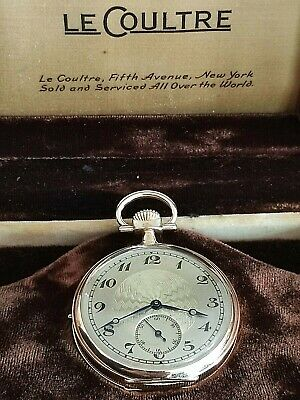 £5029.10 • Buy Lecoultre Minute Repeater Antique Pocket Watch 18k Solid Gold In Great Condition