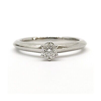 AU1.98 • Buy Tiffany And Co. Ring  Solitaire Diamond 0.21ct Platinum 2202915