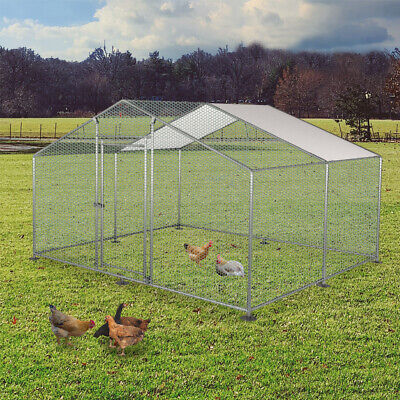 £239.99 • Buy 3m X 4m Chicken Run Coop Cage Pen Dogs Rabbit  Pets Poultry METAL Enclosure New