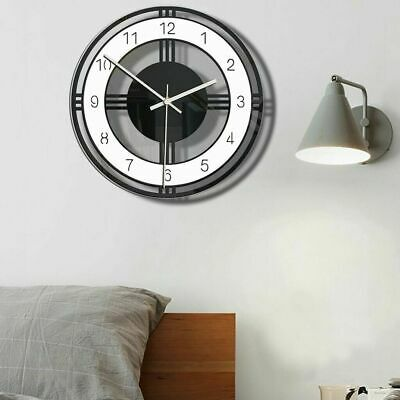 AU30.99 • Buy Nordic Style Wall Clock Silent Transparent Acrylic Clock Home Living Room
