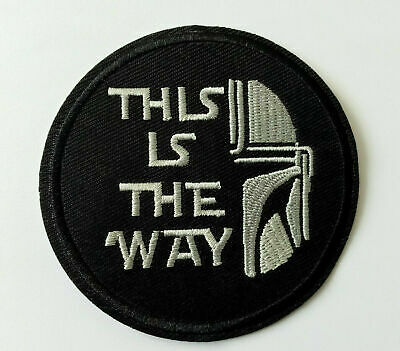 £2.99 • Buy This Is The Way Mandalorian Iron On Sew/Patch Star Wars #1