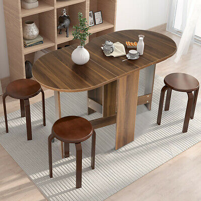 £79.99 • Buy Folding Dining Coffee Table 3-in-1 Drop Leaf Table Writing Desk 4 To 6 People