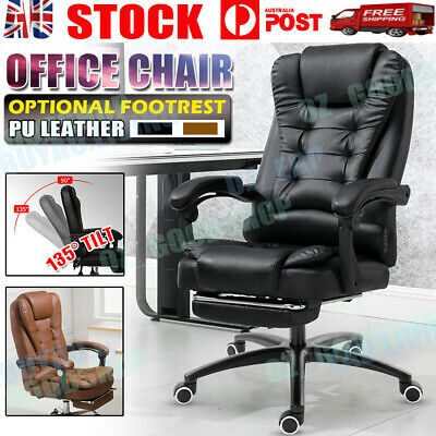 AU129.99 • Buy Gaming Chair Office Chairs Computer Seat Racing PU Leather Executive Footrest
