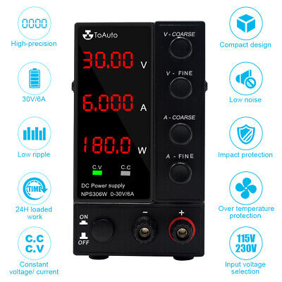 £63.99 • Buy Adjustable Switching Mode Power Supply 30V DC Digital LED Precision LAB Variable