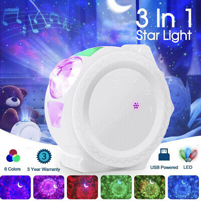 AU36.99 • Buy 3In1 LED Galaxy Starry Night Light Projector 3D Ocean Star Sky Party Lamp Gift