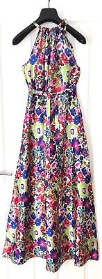 £12.50 • Buy New Blue Long Floral Summer  Halter Neck Maxi Dress For Size 10will Also Fit 12