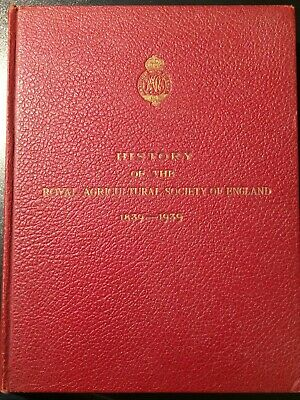 £14 • Buy History Of The Royal Agricultural Society Of England 1839-1939. J. Scott-Watson
