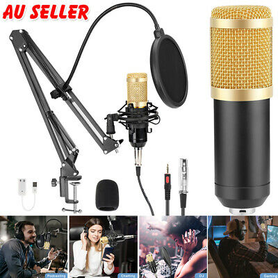 AU39.99 • Buy Professional USB Condenser Podcast Microphone For Gaming Recording Streaming