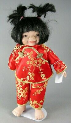 $ CDN23.99 • Buy #48-  13.5  Asian Porcelain Doll In Red And Gold Outfit