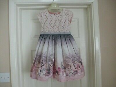 £35 • Buy Next Girls Lace & Bunny Prom Dress Size Age 4-5, Good Condition!