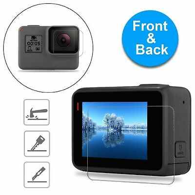 $ CDN4.38 • Buy For GoPro Hero 6 5 Black Clear Tempered Glass Screen + Lens Protector