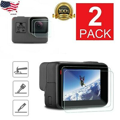 $ CDN9.38 • Buy 2-Pack For GoPro Hero 6 5 Black Clear Tempered Glass Screen + Lens Protector