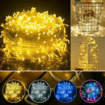 AU79.99 • Buy 100-1000LED String Fairy Lights Christmas Tree Lamps Outdoor Party Wedding Decor