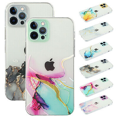 AU8.58 • Buy For IPhone 12 Pro Max 11 XS XR 8 7 Plus Hybrid Marble Pattern Rubber Case Cover