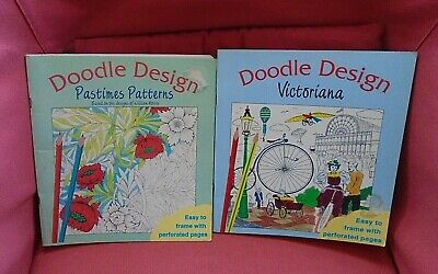 £5 • Buy 2 X Doodle Design Colouring Books Victoriana/Pastimes Patterns Easy To Frame