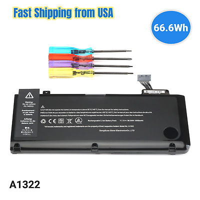 $19.59 • Buy NEW A1322 66.6WH Battery For Ap Pl E MacBook Pro13 A1278 Mid 2009 2010 2011 2012