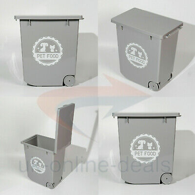 £16.95 • Buy New Grey 20 L Pet Food Dry Feed Container Animal Dog Cat Storage Box Bin