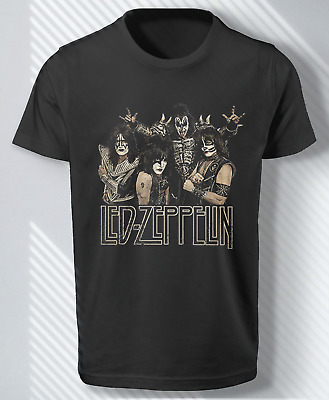 $16.90 • Buy Led-Zeppelin Kiss Funny Spoof Rock Band Vintage Worn Look Shirt Gift