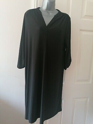 £6.50 • Buy Ladies British Home Stores Size 16 Black Stretch Material Dress