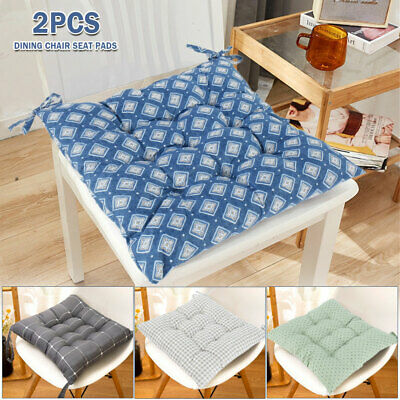£7.39 • Buy 2x Thicker Cushions Chair Soft Seat Pads Dining Bed Room Garden Kitchen Mat
