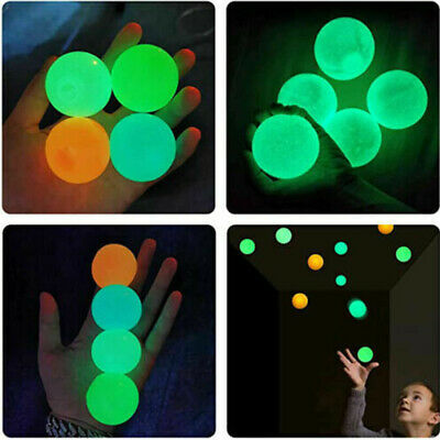 AU3.65 • Buy Sticky Wall Balls For Ceiling Stres Relief Glow In The Dark Fun Toy For Kids