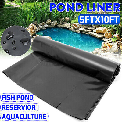 £9.16 • Buy 5 X10ft Fish Pond Liner 0.6mm Water Pool HDPE Membrane Reinforced Landscaping