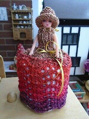 £5.99 • Buy  Hand Knitted Metalica Doll Toilet Roll Cover