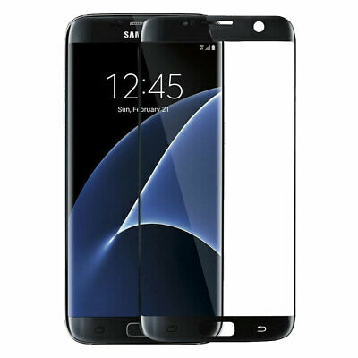 $ CDN5 • Buy Tempered Glass Full Coverage Black Screen Protector For Samsung Galaxy S7 Edge