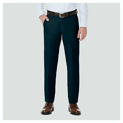 $14.39 • Buy Haggar H26 Mens Performance 4 Way Stretch Straight Fit Trouser Pants Navy 38X32