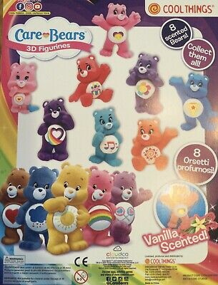 £10 • Buy 10 X  Care Bears 3D Figurines Charms Vanilla Scented Ideal Party Bag £10.00