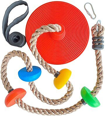 £19.96 • Buy Climbing Rope And Kids Tree Disc Swing Seat Set In/Outdoor Backyard Playground