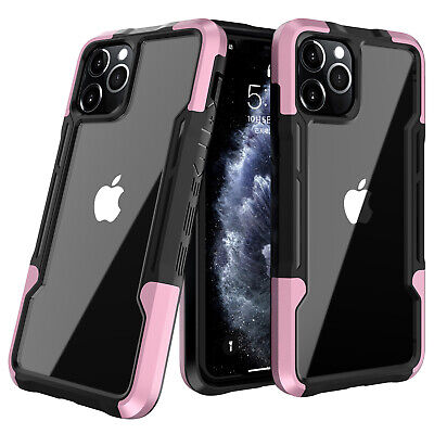 AU14.69 • Buy Hybrid Case For IPhone 12 13 Pro Max 11 XS XR 7 8+ Shockproof Rubber Clear Cover
